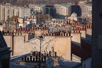 Montmartre, Toits depuis la rue Du Mont Cenis