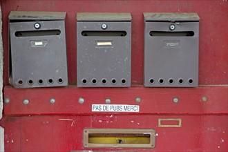 Nantes, boîtes aux lettres