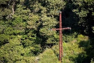 Parc des Grands Causses, pylône électrique