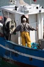Clohars Carnoët, ria et port de Doëlan, bateau de pêche