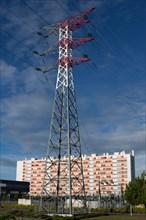 Lorient, Rue Straed Louis Guiguen, pylône électrique,