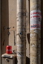 Paris, cannette de Coca Cola abandonnée