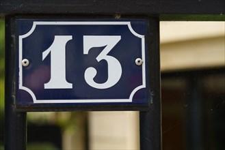 Paris, plaque numéro 13