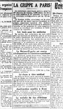 1918. L'épidémie de grippe espagnole à Paris