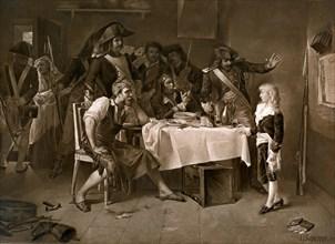 L'enfant Louis XVII dans sa prison à la Tour du Temple .