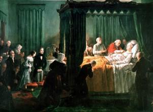 Charles X meurt du choléra au château de Graffenberg, à Göeritz (novembre 1836)