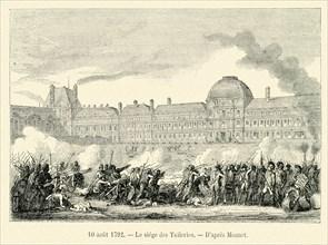 Le siège des Tuileries.