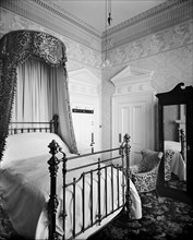 A bedroom in the Hotel Cecil, The Strand, London