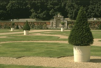 The parterre, Kirby Hall, Northamptonshire, 1998