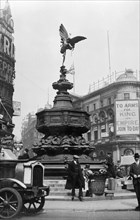Statue of Eros, Piccadilly Circus, Westminster, London, 1915. Artist: Unknown