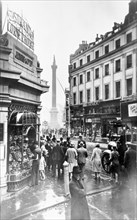 Nelson's Column, The Strand and Lyons Cornor House, Westminster, London, before 1933. Artist: George Davison Reid