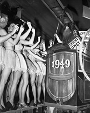 Dancers on New Year's Eve celebrations at the Trocadero Restaurant, Leicester Square, London, 1949. Artist: Unknown