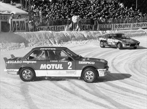 A BMW 325IX during the Chamonix Ice Race, France, 1989. Artist: Unknown