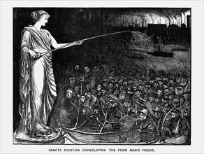 'Sancta Nicotina Consolatrix. The Poor Man's Friend', 1869. Artist: George du Maurier
