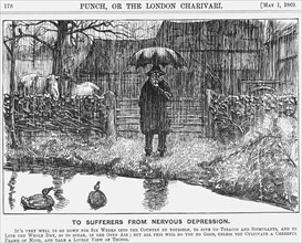 'To Sufferers from Nervous Depression', 1869. Artist: Unknown