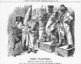 'Time's Waxworks', 1881. Artist: Joseph Swain