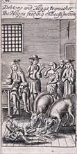 Fleet Prison, London, 1691. Artist: Anon
