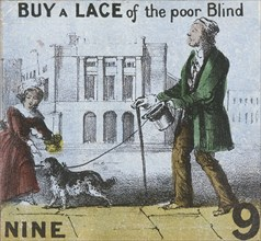 'Buy a Lace of the poor Blind', Cries of London, c1840. Artist: TH Jones