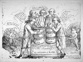 'The scrutiny, or examination of the filth', 1784. Artist: Anon
