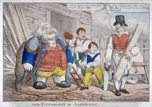 'The Etymology of Alderman', 1809. Artist: Anon