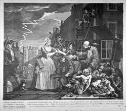 Plate IV of A Rake's Progress, 1735. Artist: William Hogarth