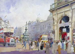 'Piccadilly Circus', 1920. Artist: Edward Harry Handley-Read
