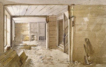 Interior of the room next to the White Lyon Prison, Borough High Street, Southwark, London, 1887. Artist: John Crowther