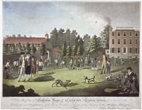 Back view of Salvadore House Academy, Tooting, Wandsworth, London, 1787. Artist: James Walker