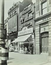 'Chocolate King' sweetshop, Upper Street, Islington, London, 1944. Artist: Unknown.