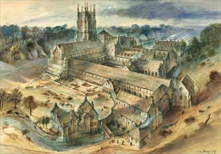 Fountains Abbey, c12th century, (c1950-1970)