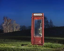 K8 telephone kiosk, Langton Park, Wroughton, Swindon, Wiltshire, 2014