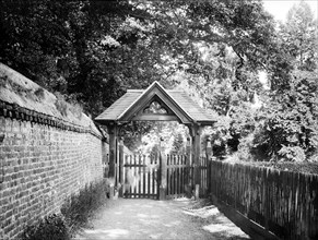 Lych gate of St Andrew's Church, Sonning, Berkshire, c1860-c1922
