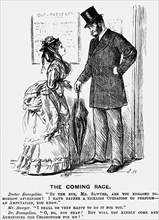 'The Coming Race', 1872. Artist: George du Maurier