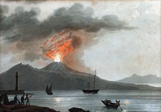 Eruption of Vesuvius, Italy, c1815. Artist: Unknown