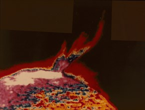 False colour image of a solar flare from Skylab, 1973. Artist: Unknown