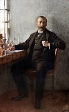 Alfred Nobel, Swedish chemist and inventor. Artist: Unknown