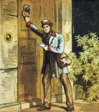 'There is the Postman's knock!', 1867.  Artist: Anon