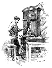 Coining press at the Royal Mint, London, 1891. Artist: Unknown