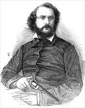 Samuel Colt (1814-1862), inventor of the Colt revolver, 1856. Artist: Unknown