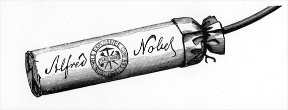 Cartridge from Nobel Explosives Company Limited, Ardeer, Ayrshire, 1884. Artist: Unknown