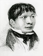 Jemmy Button, the Fuegian 'adopted' by the Fitzroy expedition, as he appeared in 1833 (1839). Artist: Unknown