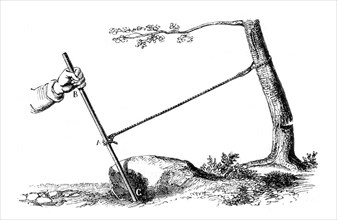 Mechanical advantage: The power of the lever, 1877. Artist: Unknown