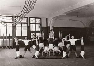 Indoor gym lesson, 1933. Artist: Unknown