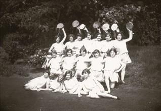 Girls Greek dancing class, 1929. Artist: Unknown