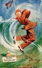 Golfing cartoon, c1910s. Artist: Unknown