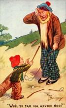 Golfing postcard, c1920s. Artist: Unknown