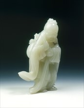 Jade Immortal Dong Fangshuo with peaches and gourd, late Ming dynasty, China, 1550-1644. Artist: Unknown