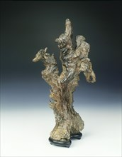 Natural wood sculpture, Qing dynasty, China, 1644-1912. Artist: Unknown
