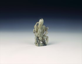 Jade immortal by a peach tree, late Ming dynasty, China, 1550-1644. Artist: Unknown