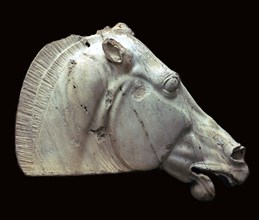 Horse of Selene from the Parthenon. Artist: Unknown